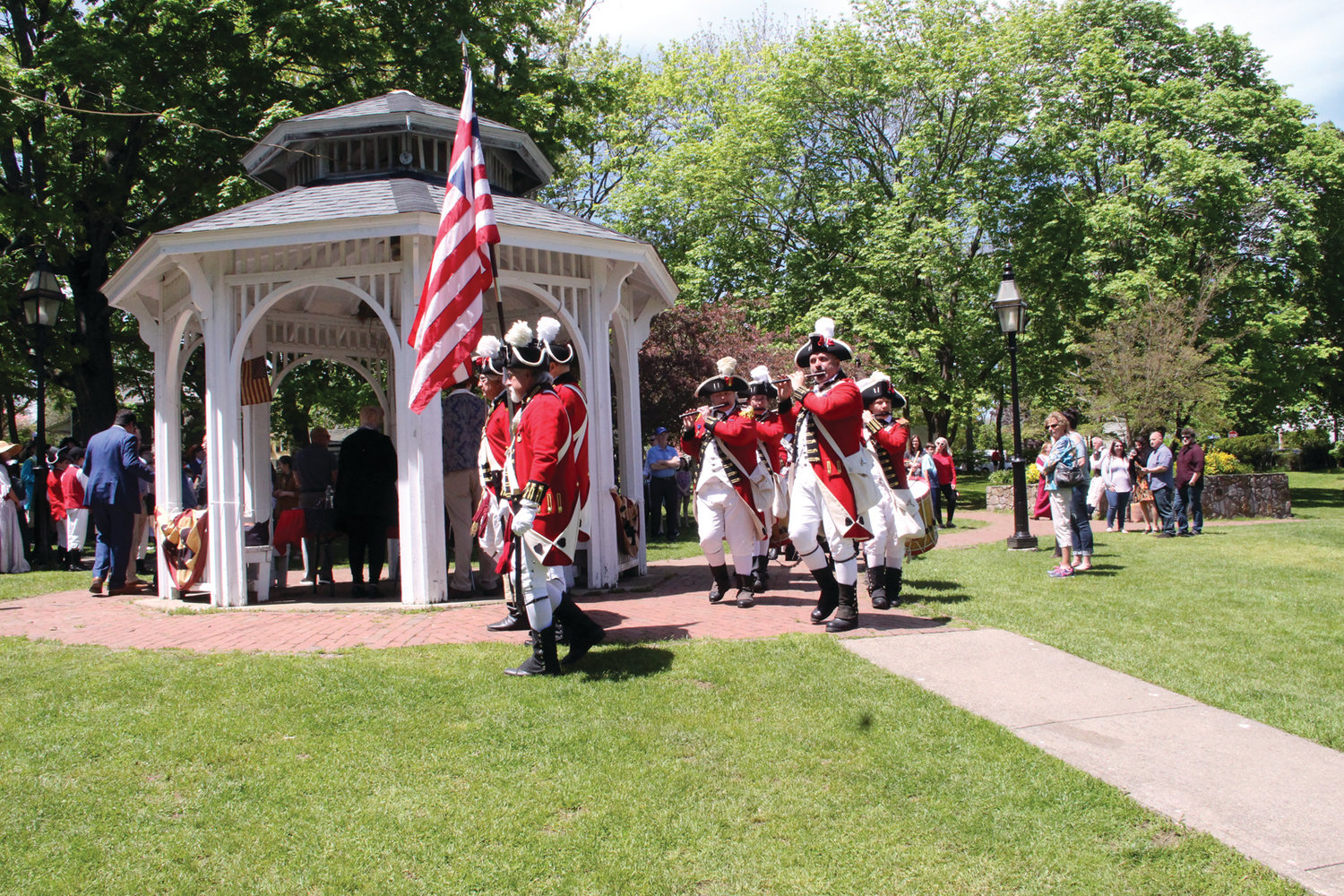 PAGEANTRY OF A PROCLAMATION: The Pawtuxet Rangers set the tone and added the music as the 54th annual Gaspee Days celebration got underway Saturday.