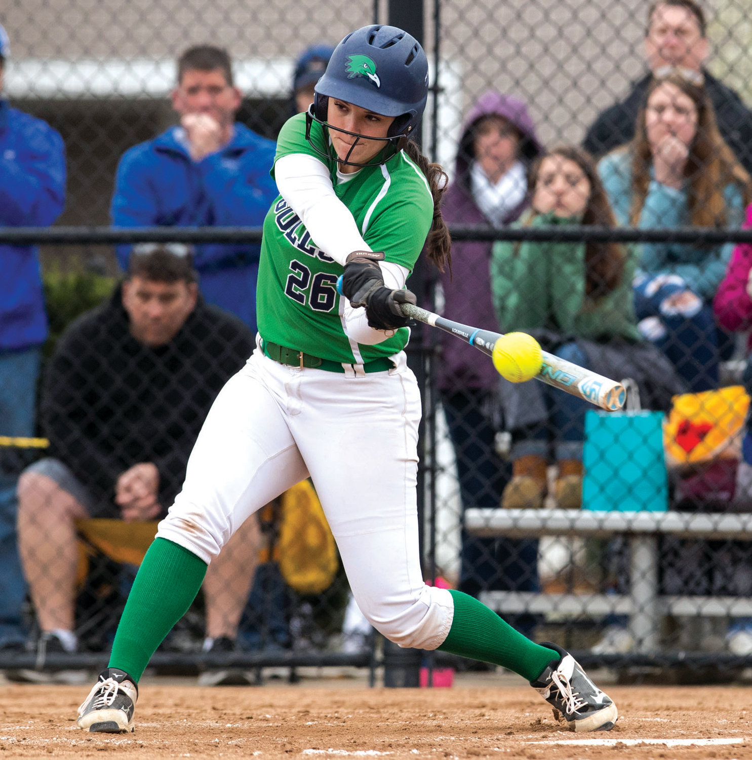 AT THE DISH: Endicott softball player and Toll Gate alumna Jamie Hopgood competes for the Gulls this past season.
