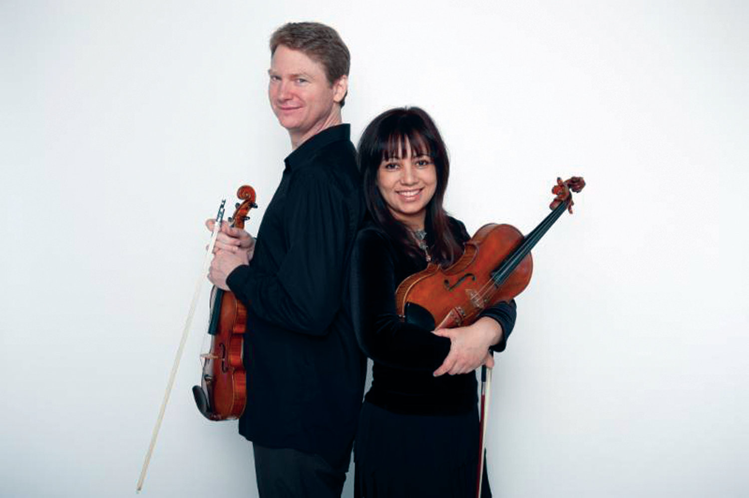 "STRING DUO: The Miller-Porfiris Duo will take part in performances during this year's Music on the Hill series, including the finale ""Four Hands"" concert on June 12 at Dunn's Corners Community Church in Westerly."