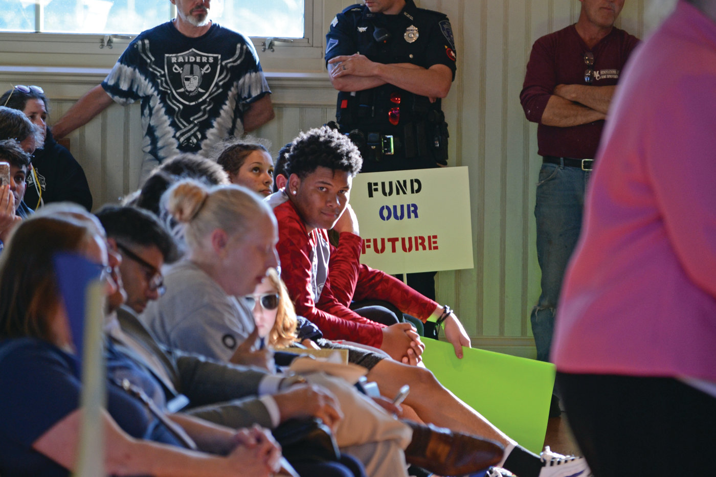 FUND OUR FUTURE: Another protest sign asked legislators to provide more funding to the Warwick School Department.