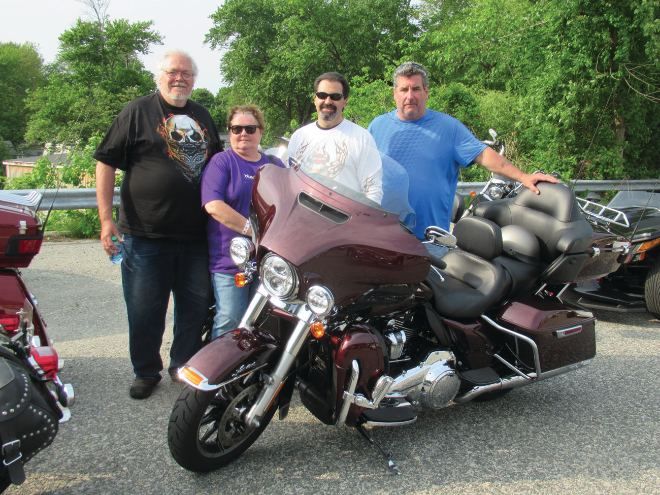 BAILEY BUDDIES: Among the many Warwick residents who helped set a record for Saturday's 20th Annual SORI Motorcycle Run were the Baileys – Brian and Pat – Bruce Holland and Sal Palumbo.