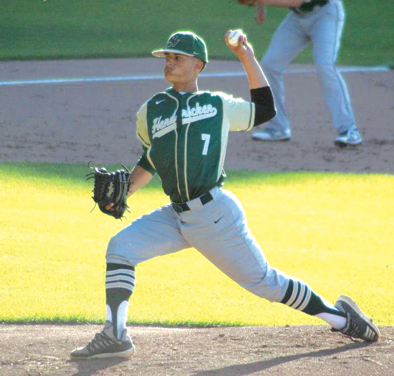 ON THE HILL: Bishop Hendricken starting pitcher Randy Reyes deals against La Salle.