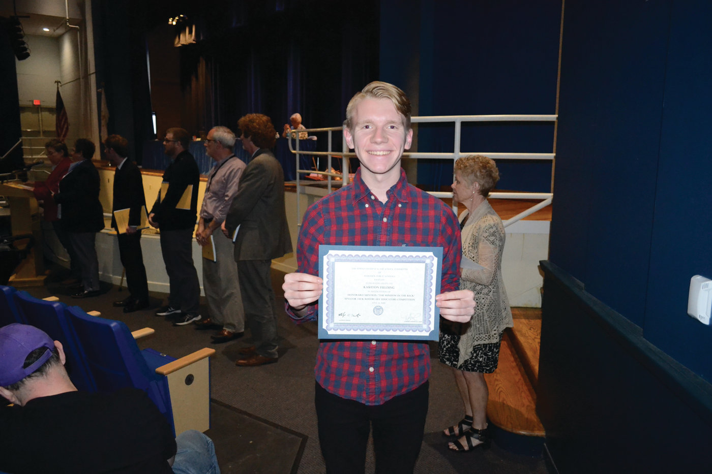 FINANCIAL FLAIR: Toll Gate High School Senior Aiden Meservey took home a special recognition for his competing in the Personal Finance Challenge competition.