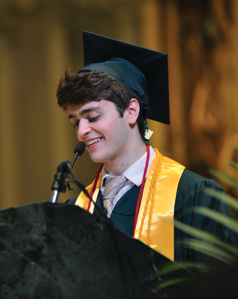 Co-salutatorian Michaelangelo Coppa