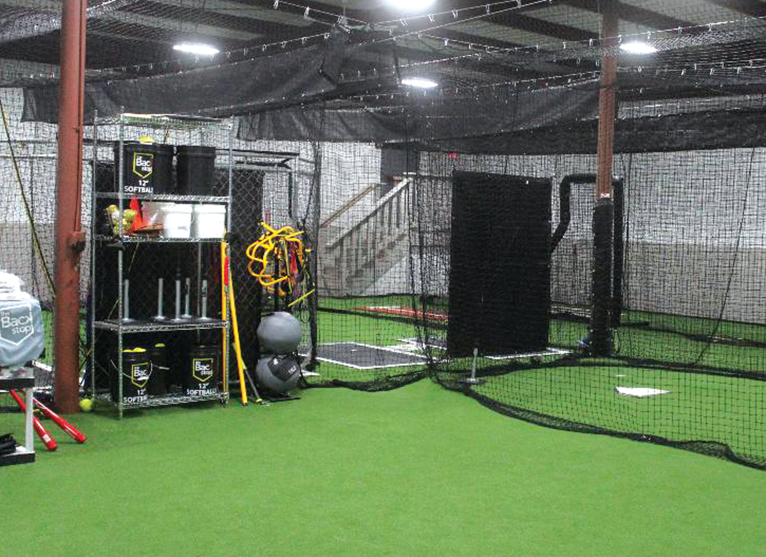 SWINGING AWAY: A look at The Backstop softball facility located on Bald Hill Road in Warwick.