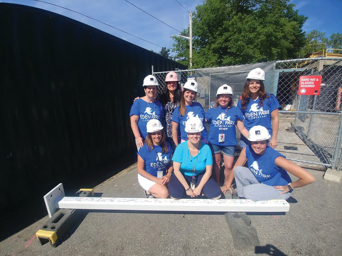 ENTHUSIASTIC CREW: The staff of the intermediate wing at Eden Park Elementary School has been enthusiastic and excited for the project and the possibilities it holds for the teaching and learning experiences at Eden Park.