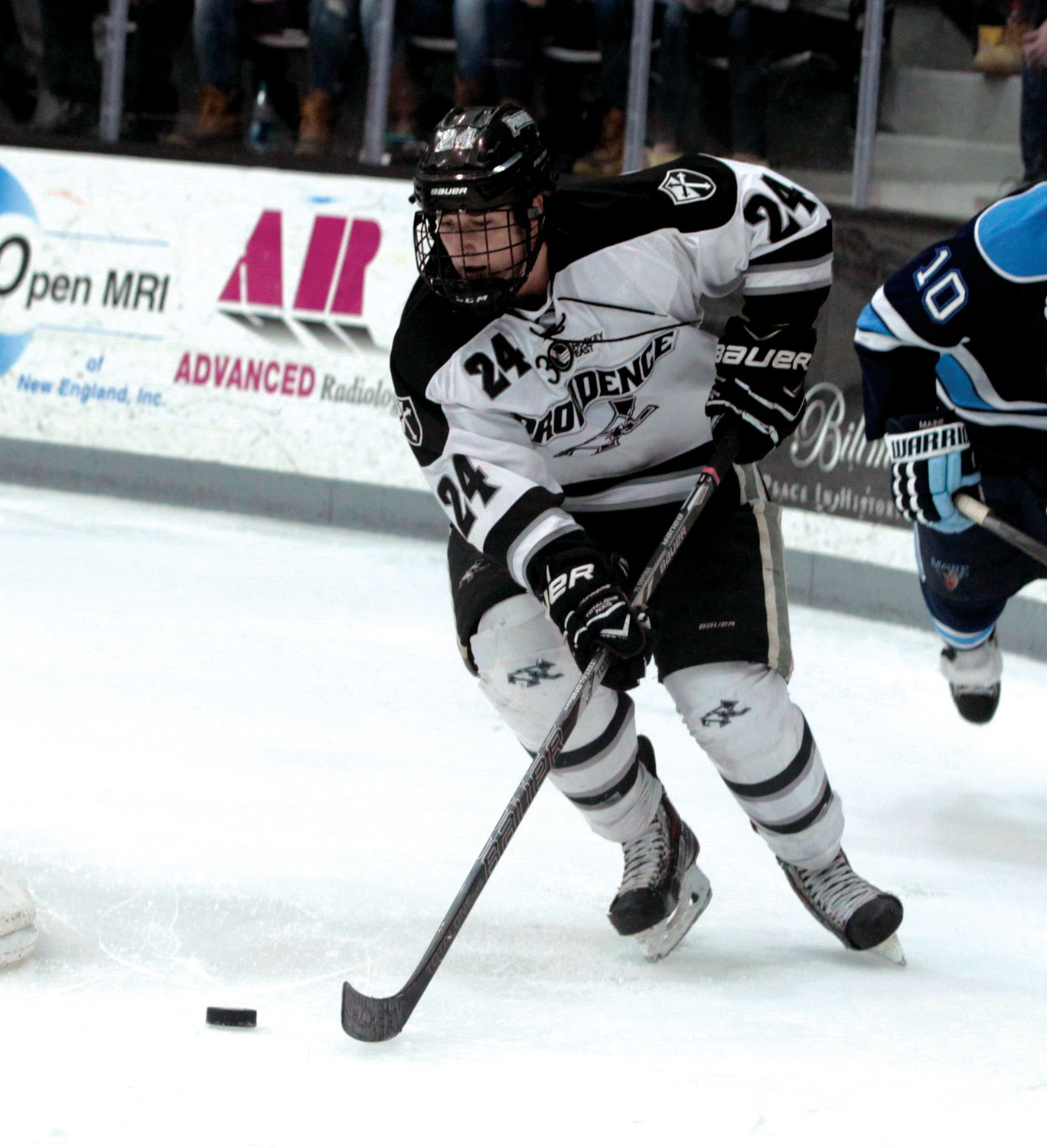 UP THE ICE: Noel Acciari at Providence College.