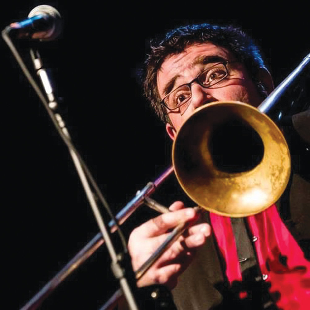 ON THE HORN: Cranston's Matt DiChiara fell in love with ska music as a teenager in the early '90s, leading him to take up the trombone.