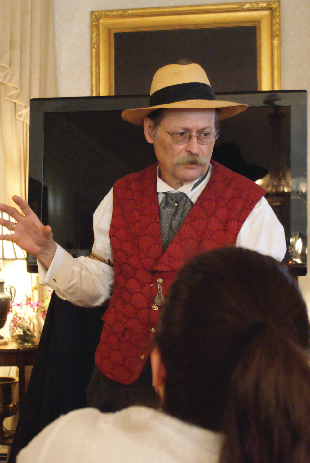"ALL ABOUT SPRAGUE: The first ""Tour with Tea"" program held at the Sprague Mansion included a presentation from Gregg Mierka."