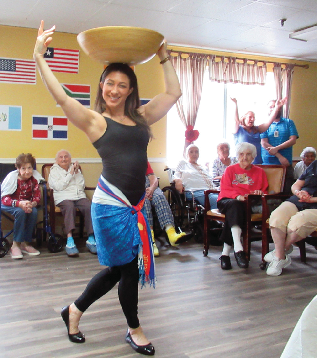 DYNAMIC DANCER: Kim Fontes, a physical therapist, finished first in the recent Briarcliffe Manor Latin Dance Off.