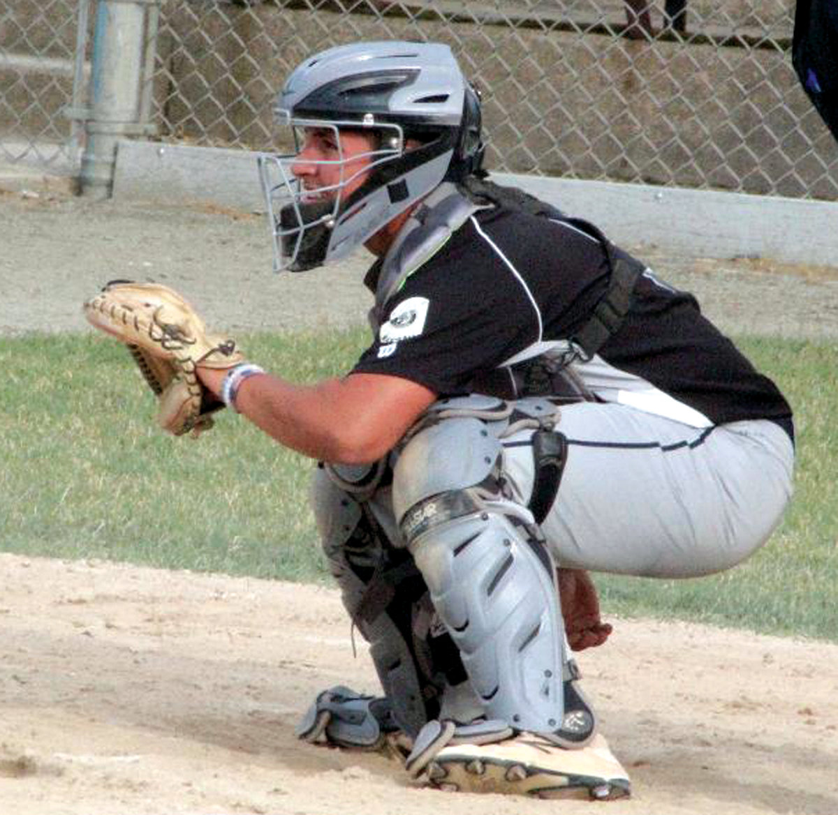 BEHIND THE PLATE: Gershkoff's Thomas Barbieri.