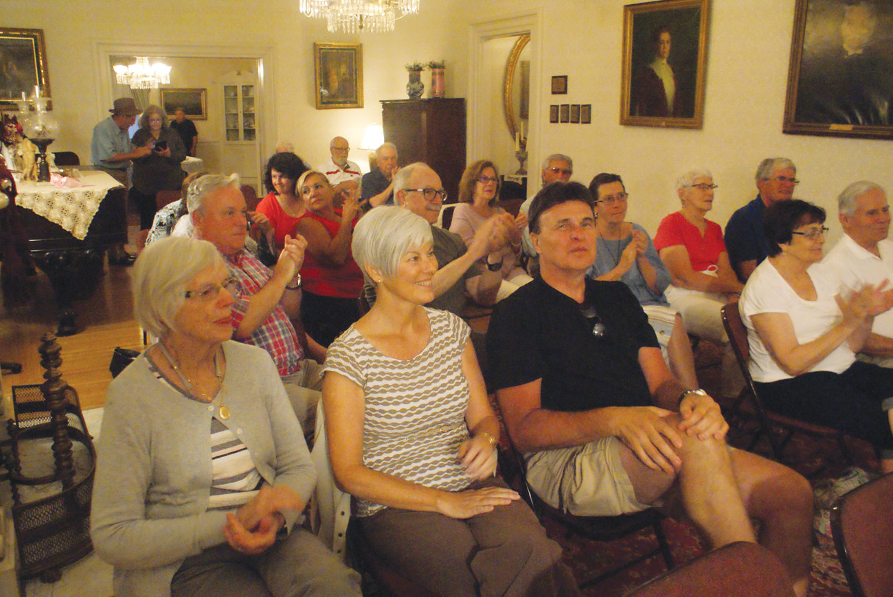 PLAY BALL: Cranston Historical Society members and visitors recently enjoyed an evening of baseball stories from sportswriter and author Steven Krasner.