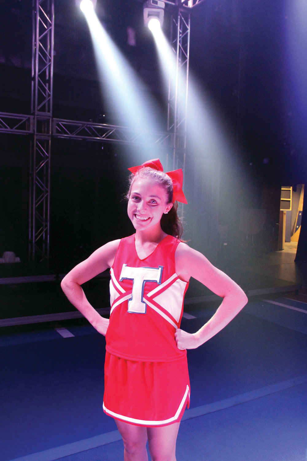 "THE ""LEAD"" IN CHEERLEADER: Hayley Gasbarro portrays Campbell, and she's wasting no time as Truman High's newest cheer captain: her goal is to get the squad a first place trophy at the national level."