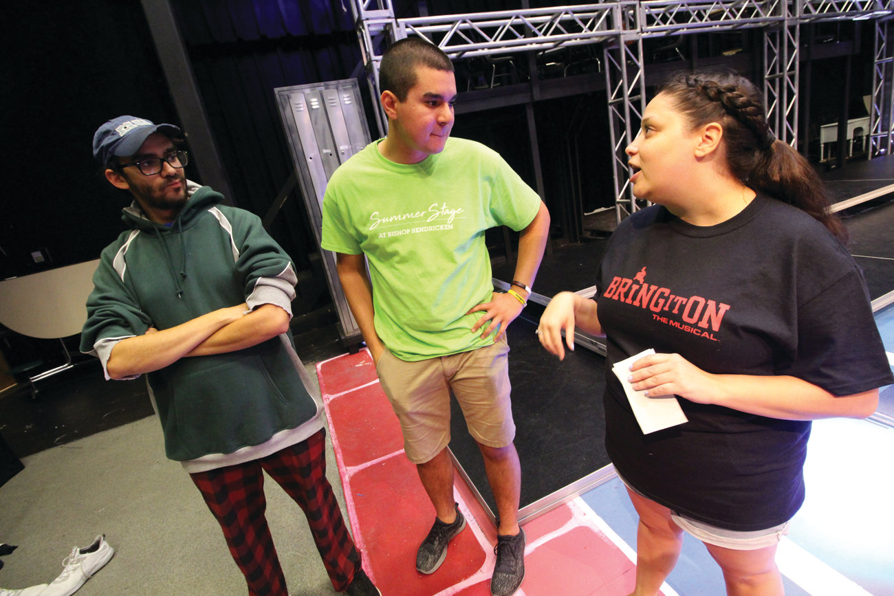 POWER TEAM: The creative team behind this production is determined to make the 20th Summer Stage a truly extraordinary experience. From left to right: Peter Mancuso, director; Christian Kabbas, production manager; and Danielle Grilli, cheer and stunt choreographer.