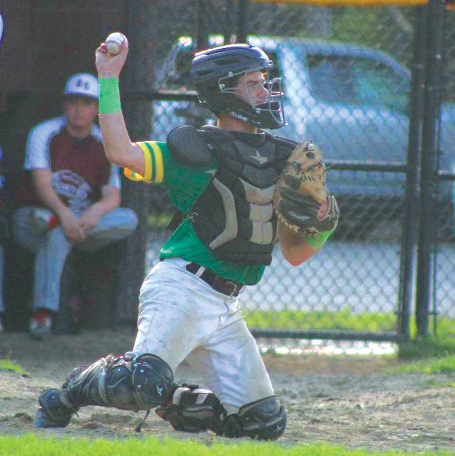 BEHIND THE PLATE: NEFL's Jeremiah Mullane.