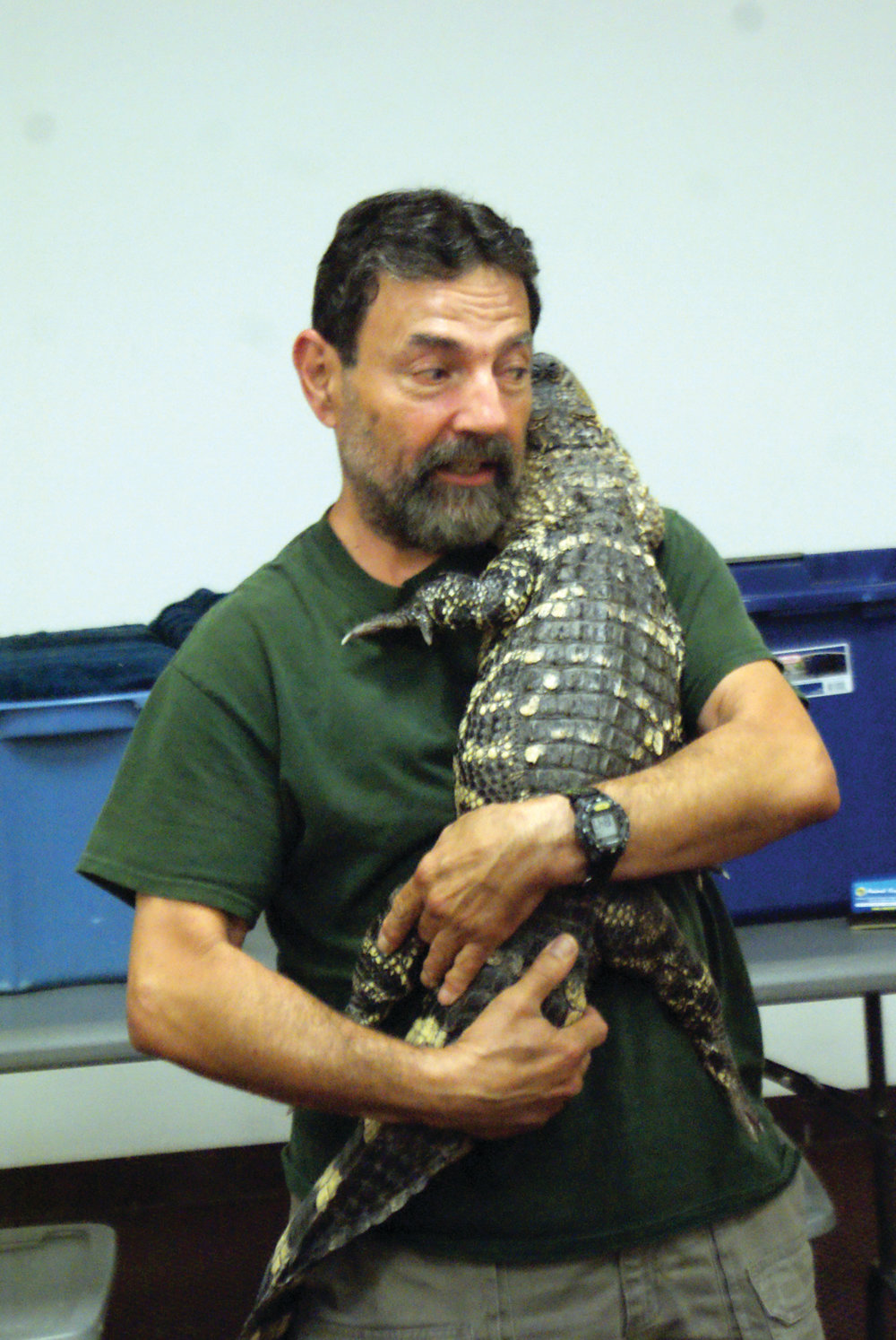 MEET DAVE: Dave Marchetti from Dave Marchetti's Animal Experience brought his show to the Central Library on July 22.