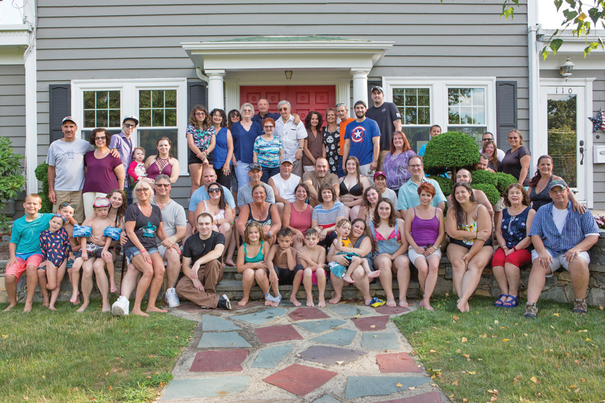 A BIG ITALIAN GET TOGETHER: About 60 members of the family directly descended from Michael Tudino and Teresa Bianco gathered on July 13 in Warwick to celebrate their familial roots. The members encompass five different generations.
