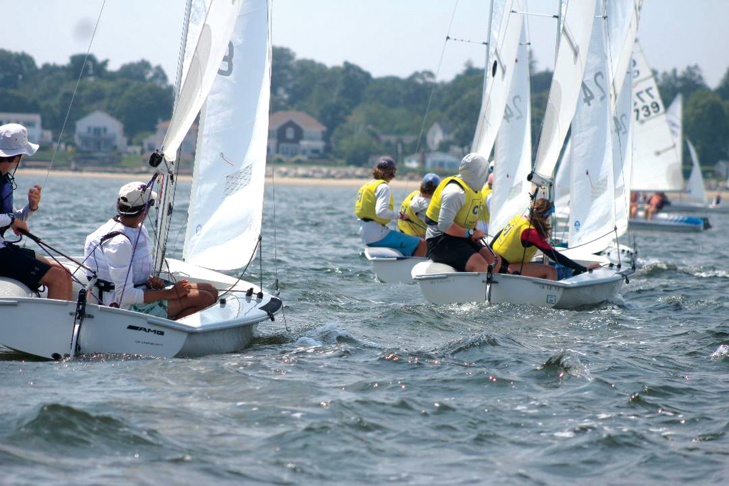 AND THEY'RE OFF: Sailors take off at the beginning of a race.