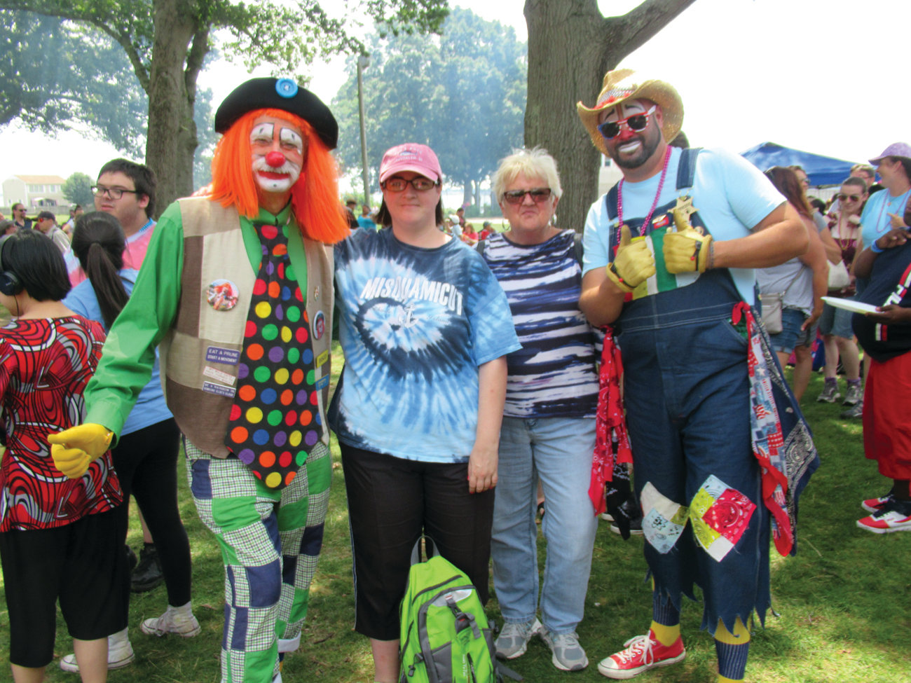 CLASSIC CLOWNS: In keeping with tradition, the Palestine Temple Shrine Clowns helps make the annual 365 Outing another super success for the state's Special Needs Citizens.
