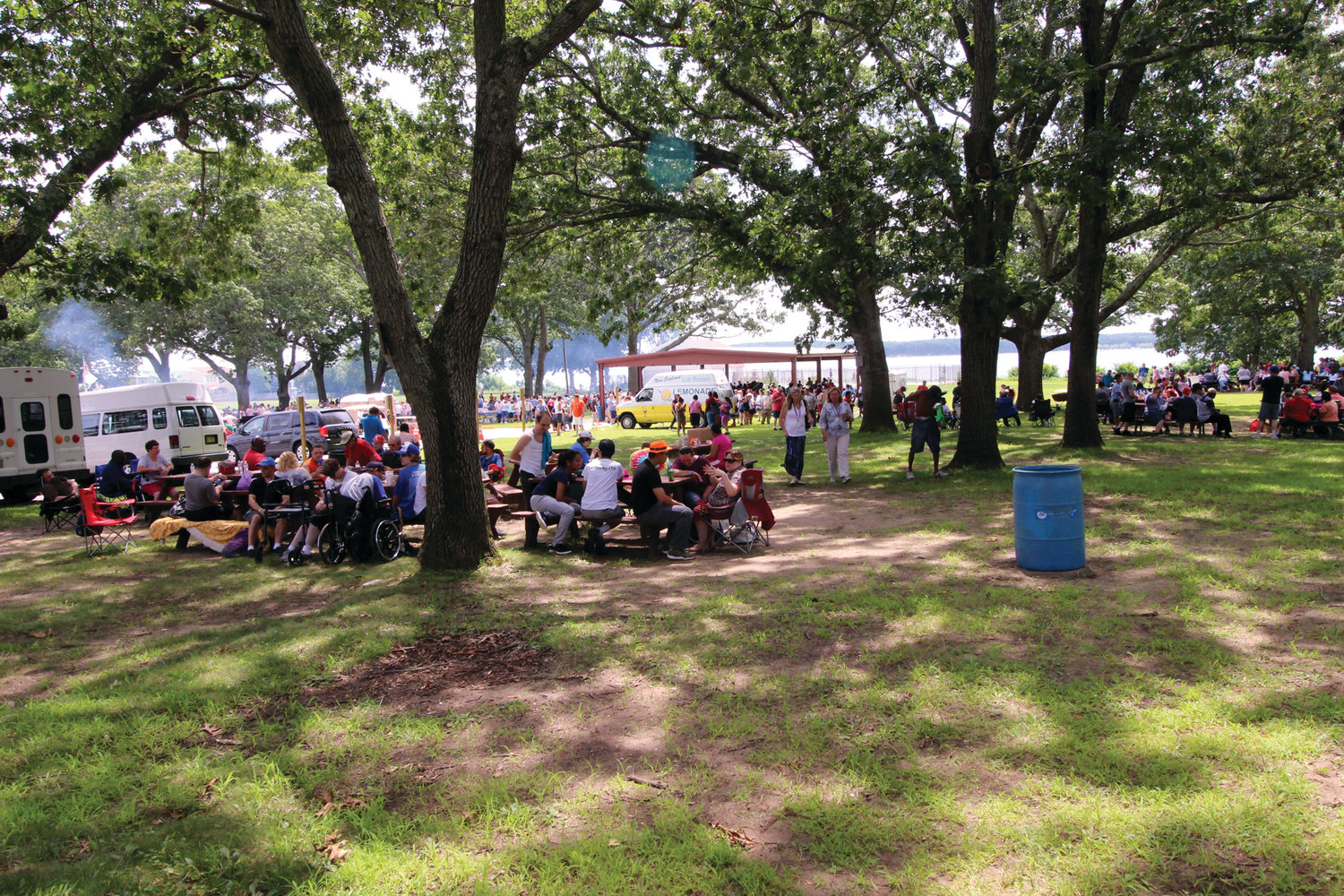 NOW THAT'S A PICNIC:  An estimated 1,800 people turned out to a picnic outing for special needs citizens hosted by the Elks Thursday at the Masonic Youth Center on Long Street. The event including music and visits from the Shriner clowns has become a seasonal favorite for many and gets larger year by year.
