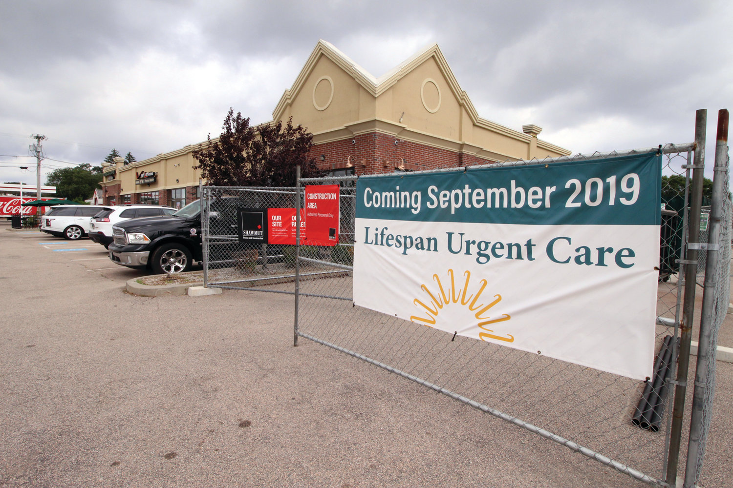 A FIRST: Lifespan will be opening the first of an undisclosed number of Urgent Care clinics statewide at the former Papa Gino's at Hoxsie Four Corners.