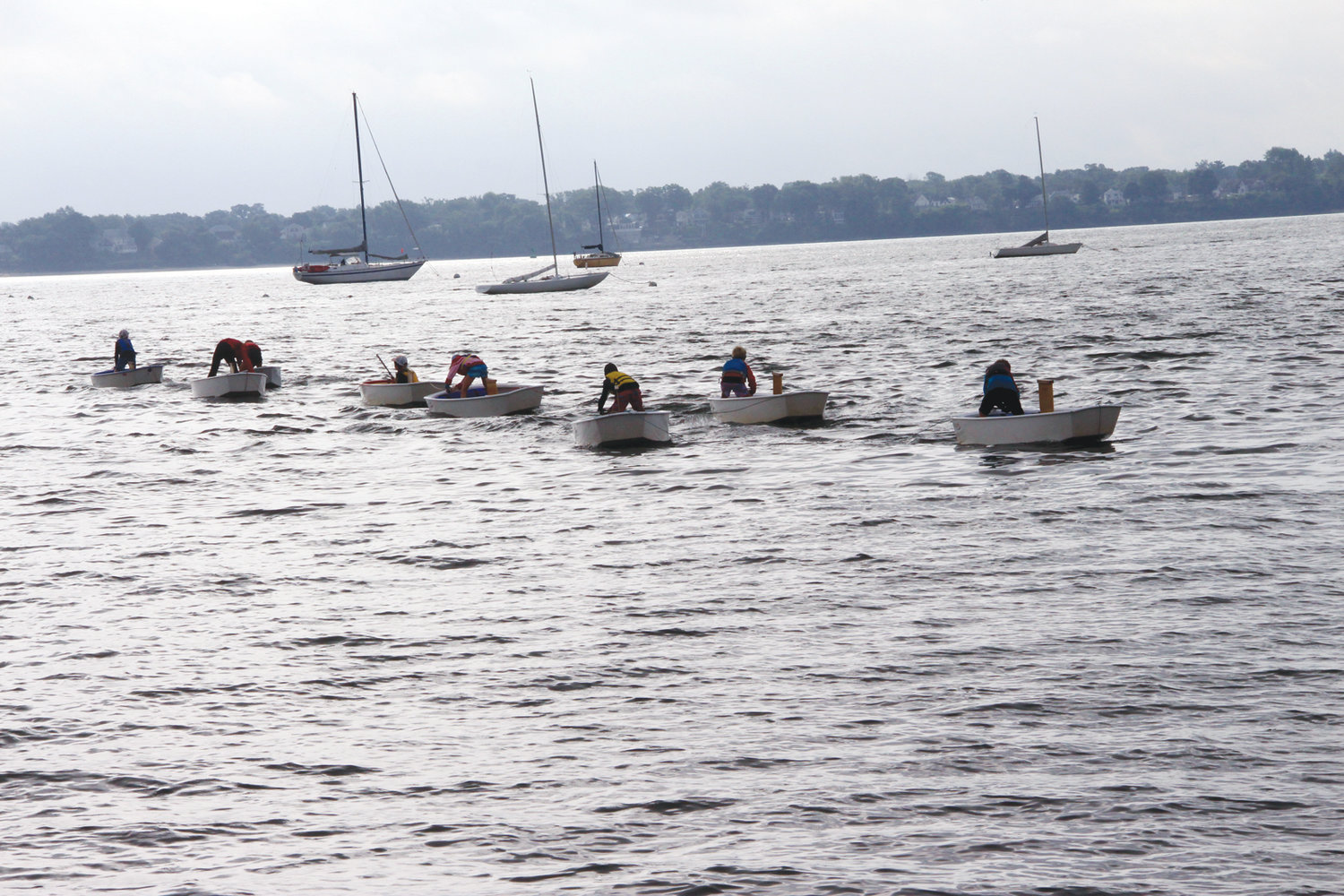 BY SEA: Barrington Yacht Club sailors arrived by sea to compete in the regatta.