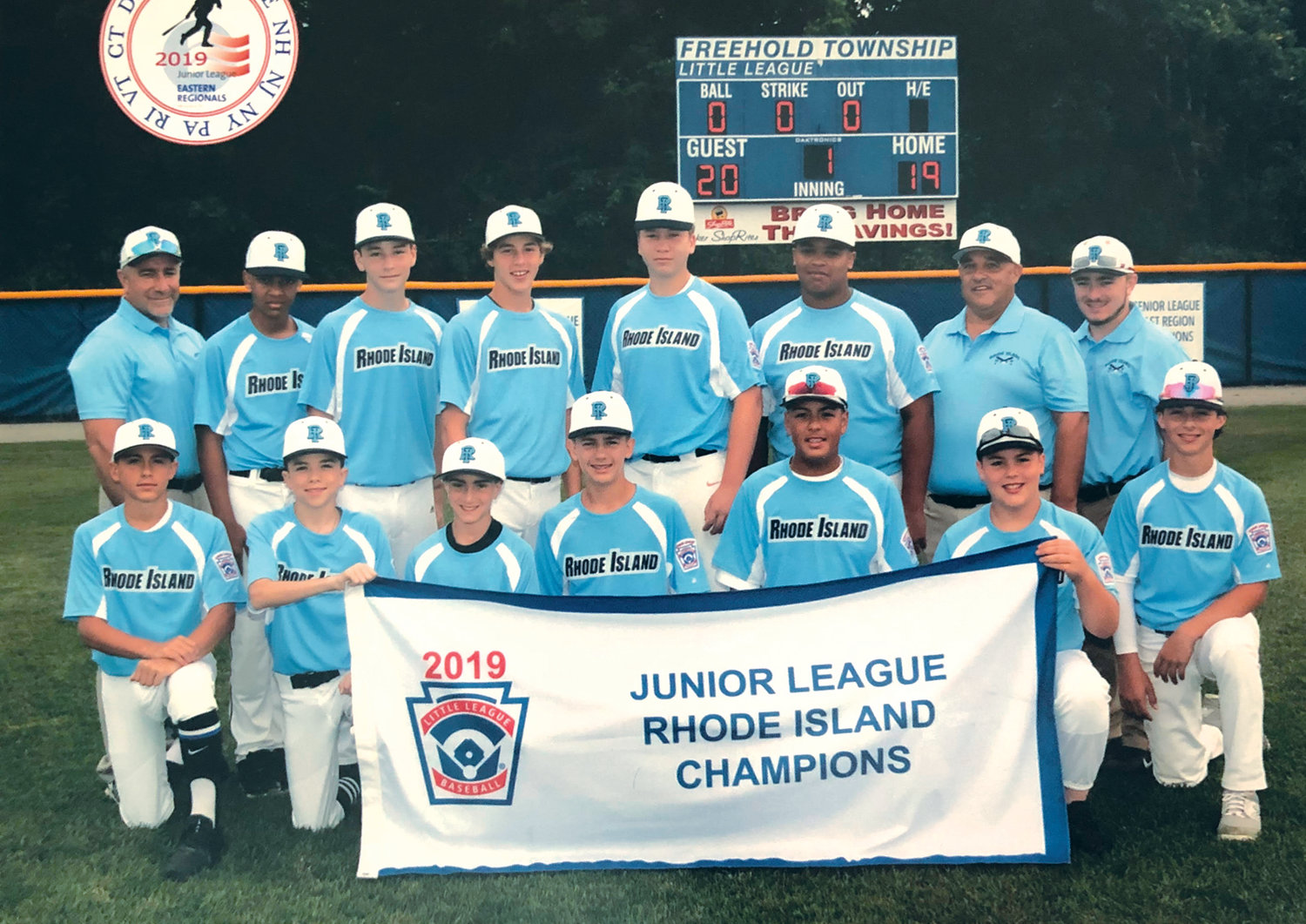CLASSY CLUB: This is the Johnston Little League's Junior Division All-Star team that after sweeping through the District Tournament proved they were the best in Rhode Island by beating all comers in the state tourney then heading to the Eastern Regional Tournament where Manager Gary Rianna's team was toasted for the respect the club showed to opponents and spectators alike.