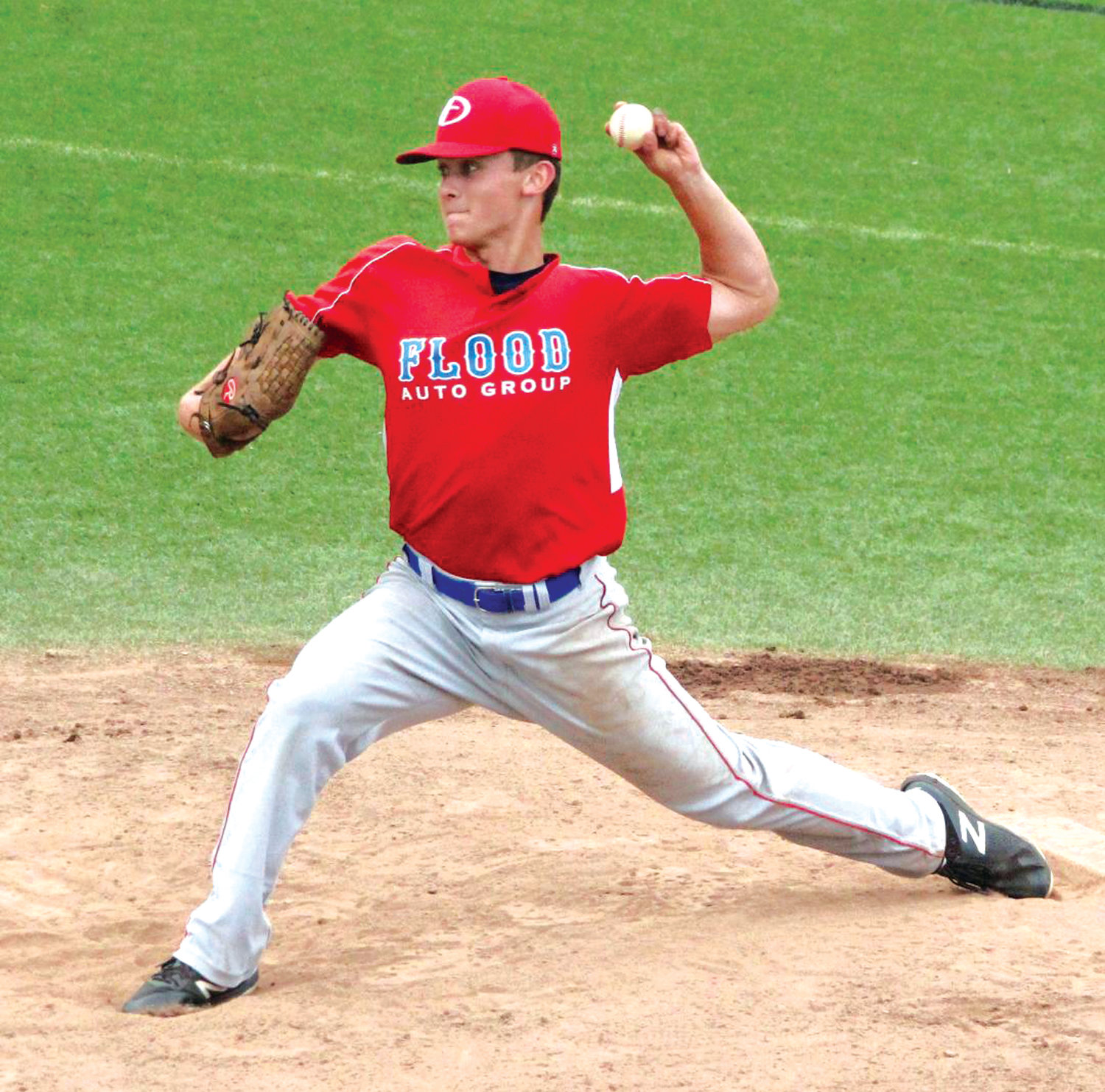 ON THE BUMP: Flood Auto's Cam Adamec deals against La Salle.