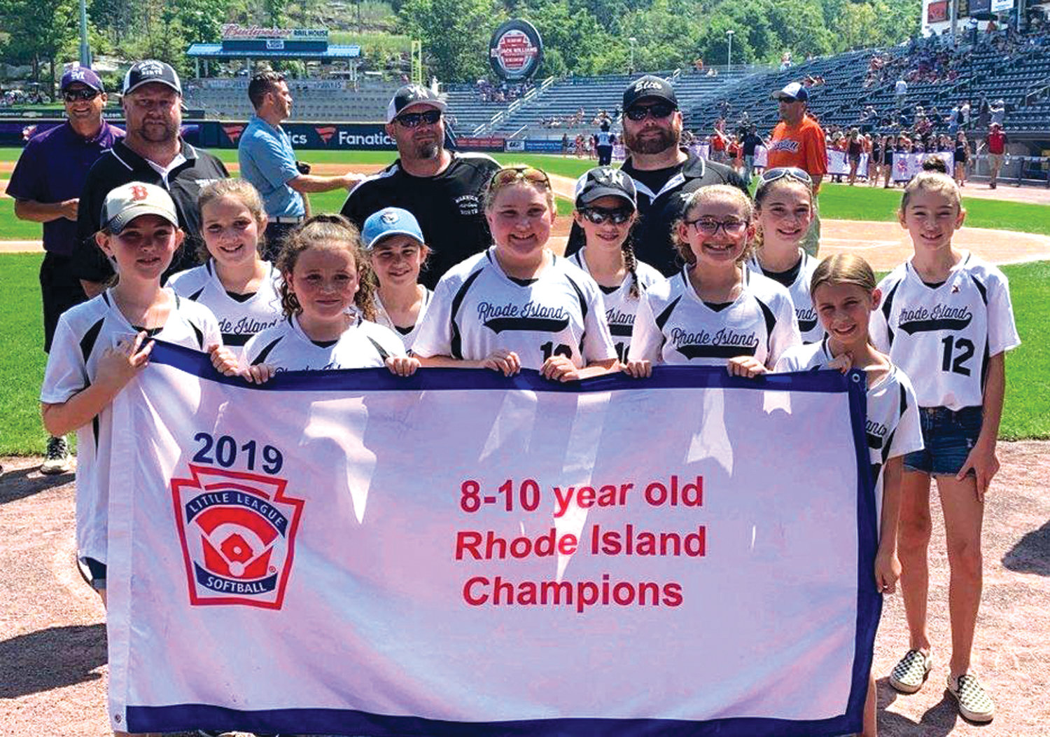 REGIONAL ACTION: The 2019 Rhode Island State Champion Warwick North 10's softball team.