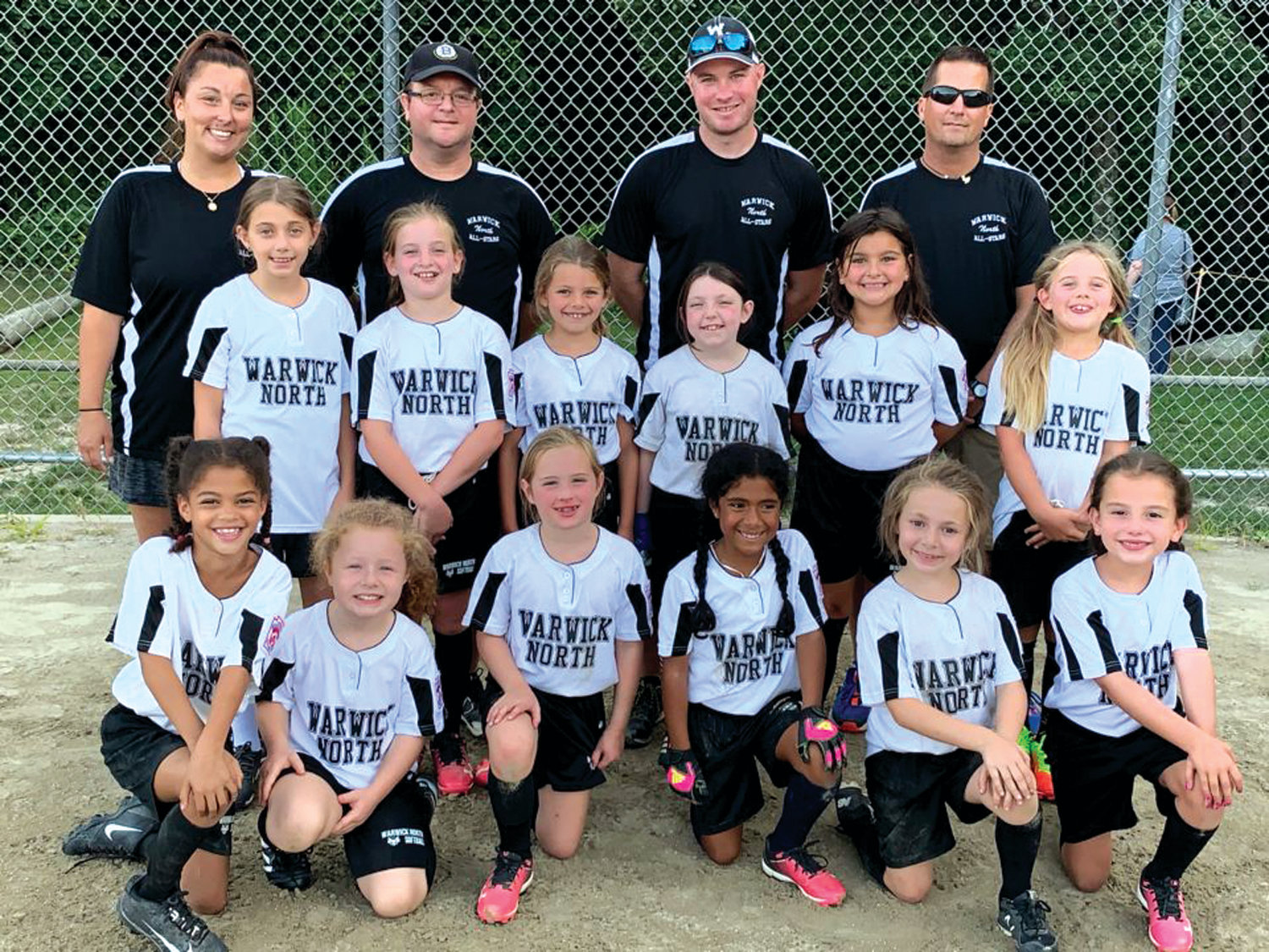 MAKING NOISE: The Warwick North 8's during their state tournament run. Members of the team included: Gabriella Pettinato, Cienna Fatorma, Nora Wood, Lyla Amitrano, Faith DiCarlo, Zoey Skinnard, Lorelei Hennion, Camden Zuercher, Bailee Lowe, Sara Sullivan, Ava Toher, Aubrey Nichols and Emily Lugo.