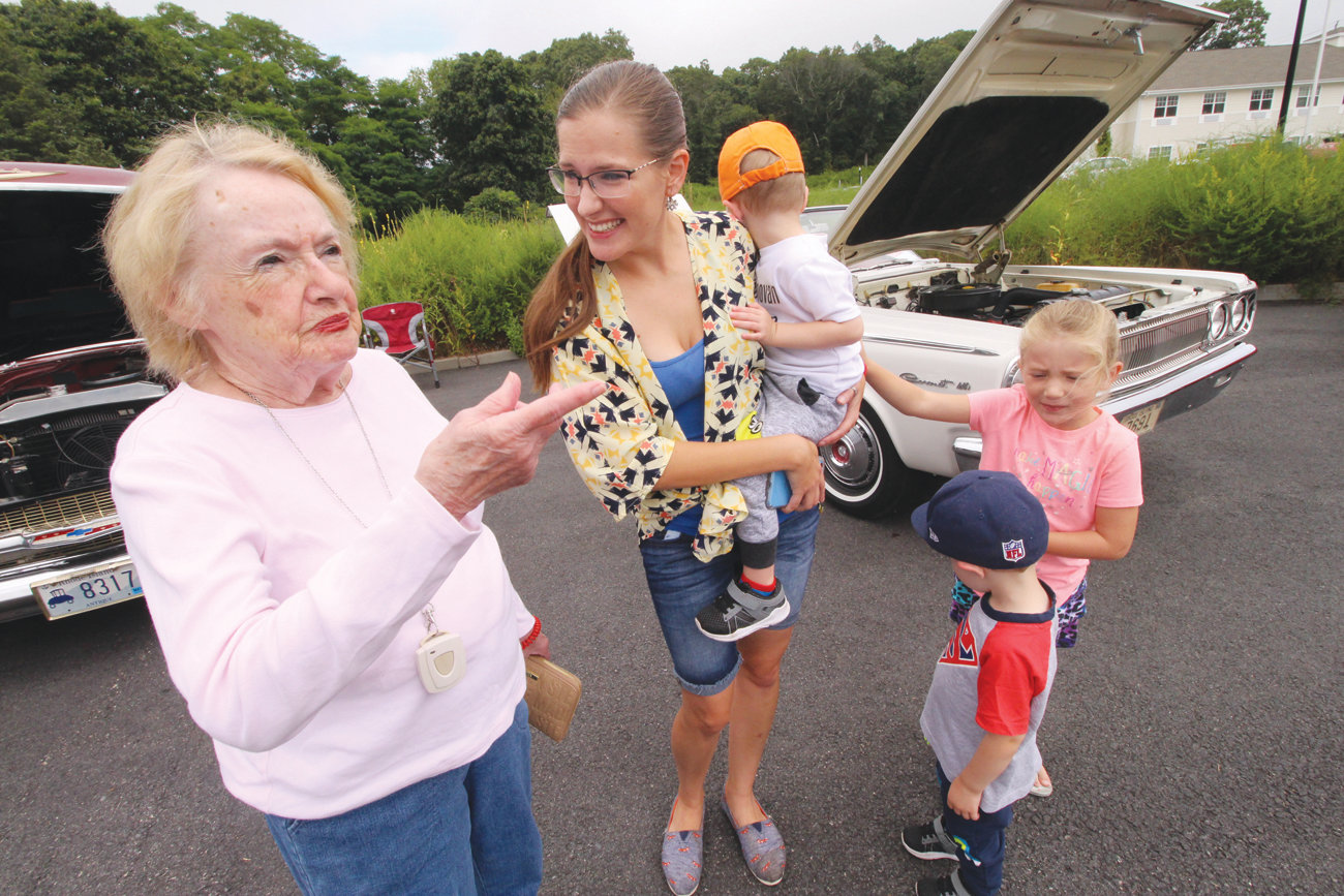 ALL PART OF THE FAMILY: All American Assisted Living resident Ginny Mangan was glad to meet the family of occupational therapist Alicia Marshal who brought her twin sons Julian and Donovan and her daughter, Mikayla to the show.