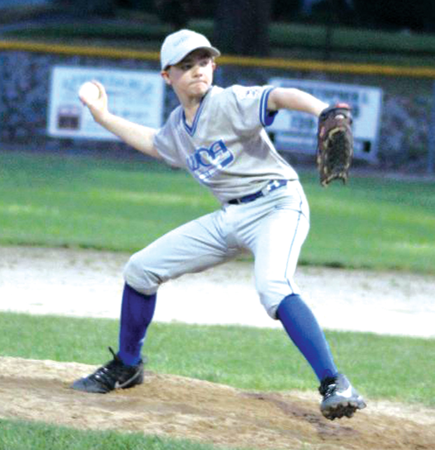 DEALING: Warwick Continental's Zack LaBonte delivers against Apponaug.