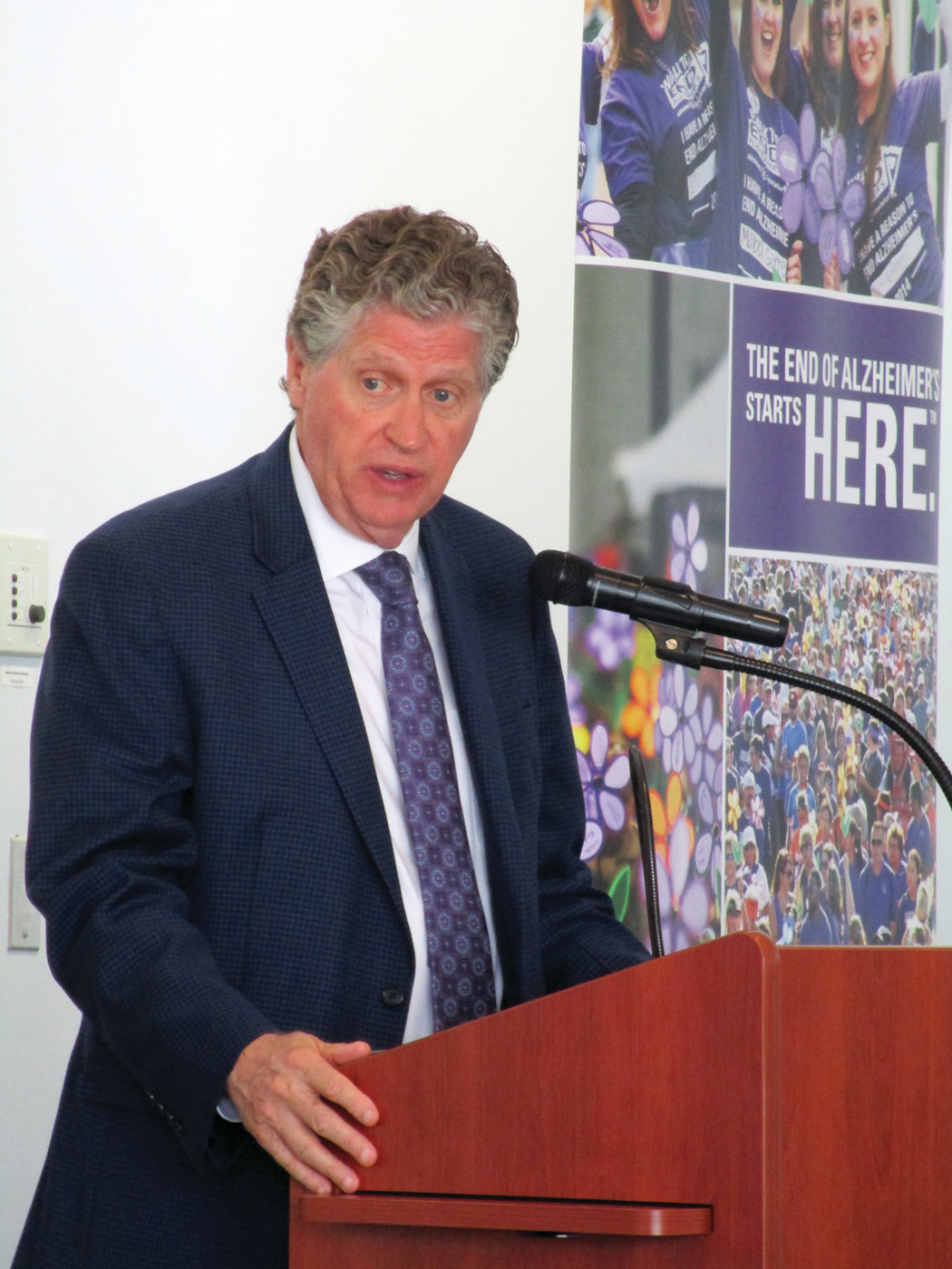 STATE'S PROGRESS: Lt. Gov. Dan McKee who leads the state's Alzheimer's Executive Board, said Rhode Island has taken steps to improve its plan for dealing with the impacts of Alzheimer's disease.
