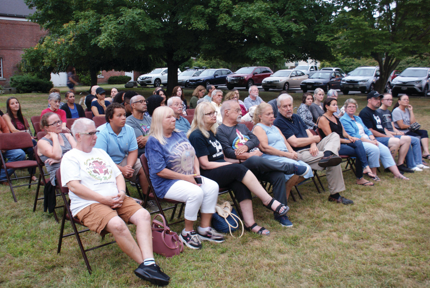 GOOD TURNOUT: A large crowd gathered on Aug. 17 for the Homeless Animals Day/Candlelight Vigil and awards ceremony.
