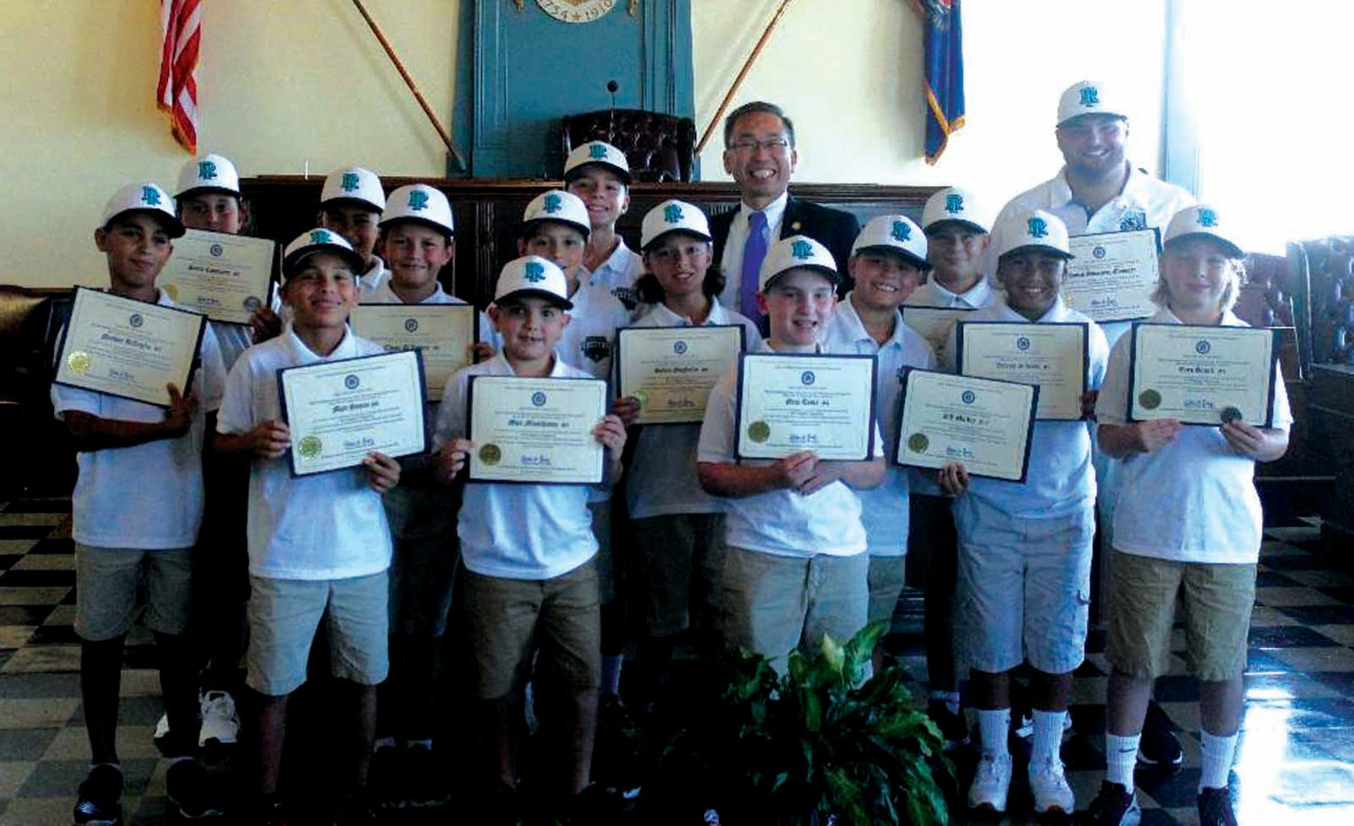 TEAM FIRST: The CWLL 10's with Mayor Allan Fung.