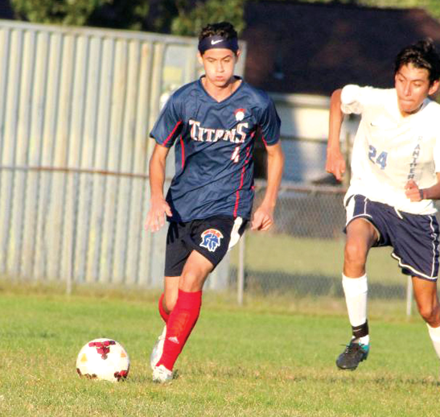 UP THE FIELD: Toll Gate's Josh Paiva.