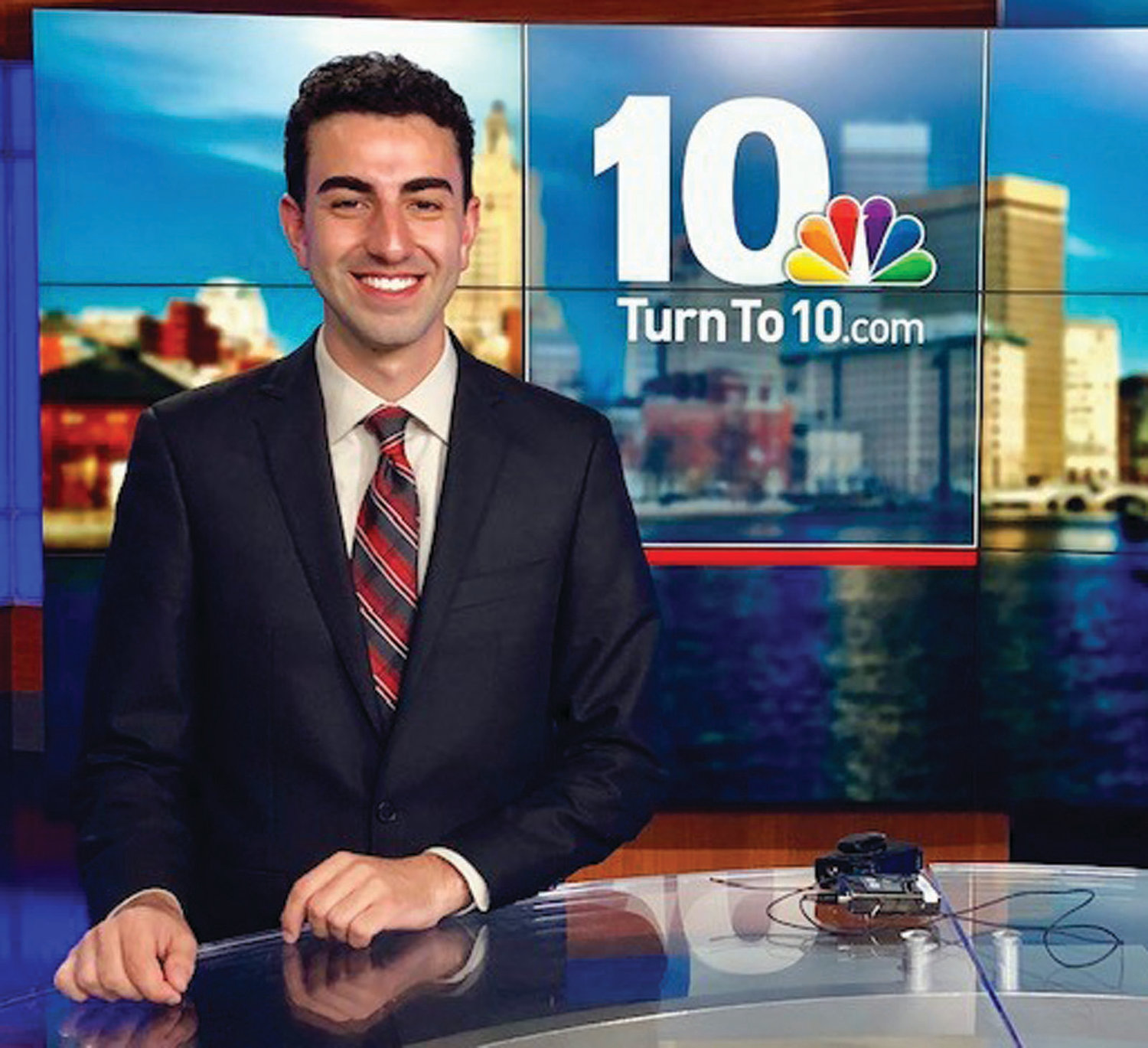 THERE FOR RHODE ISLAND, RAIN OR SHINE: Johnston's Anthony Macari was recently hired as a digital weather producer and meteorologist at NBC 10 WJAR, helping him achieve his dream of coming home to do what he loves in his home state.