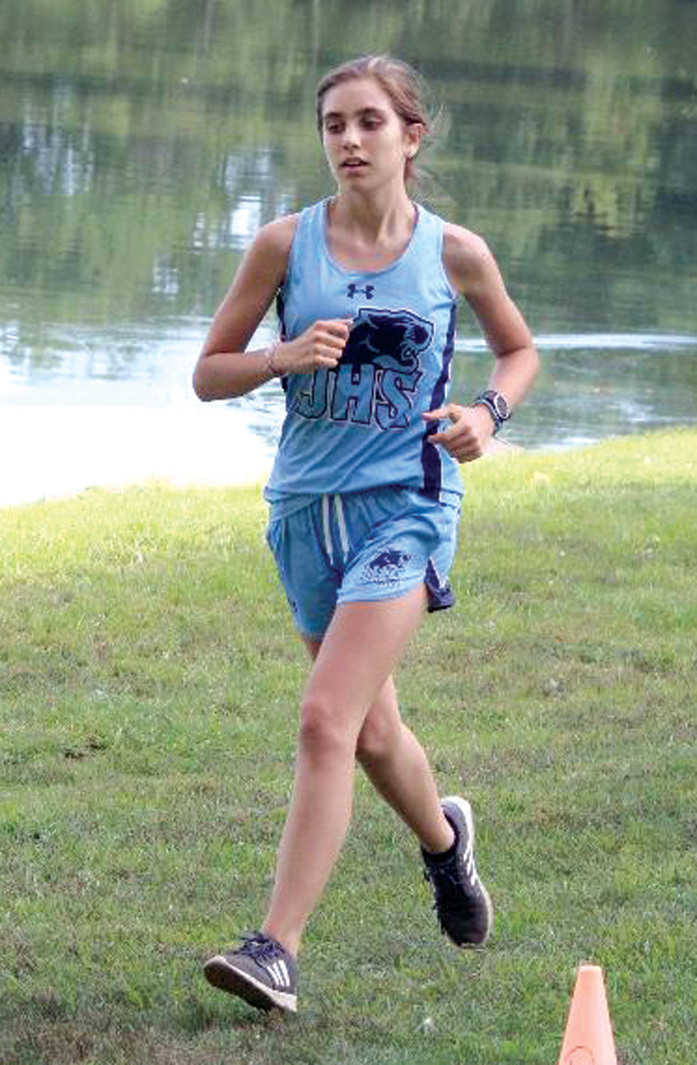 STAYING THE COURSE: Johnston's Audrey Mahoney at Monday's meet.