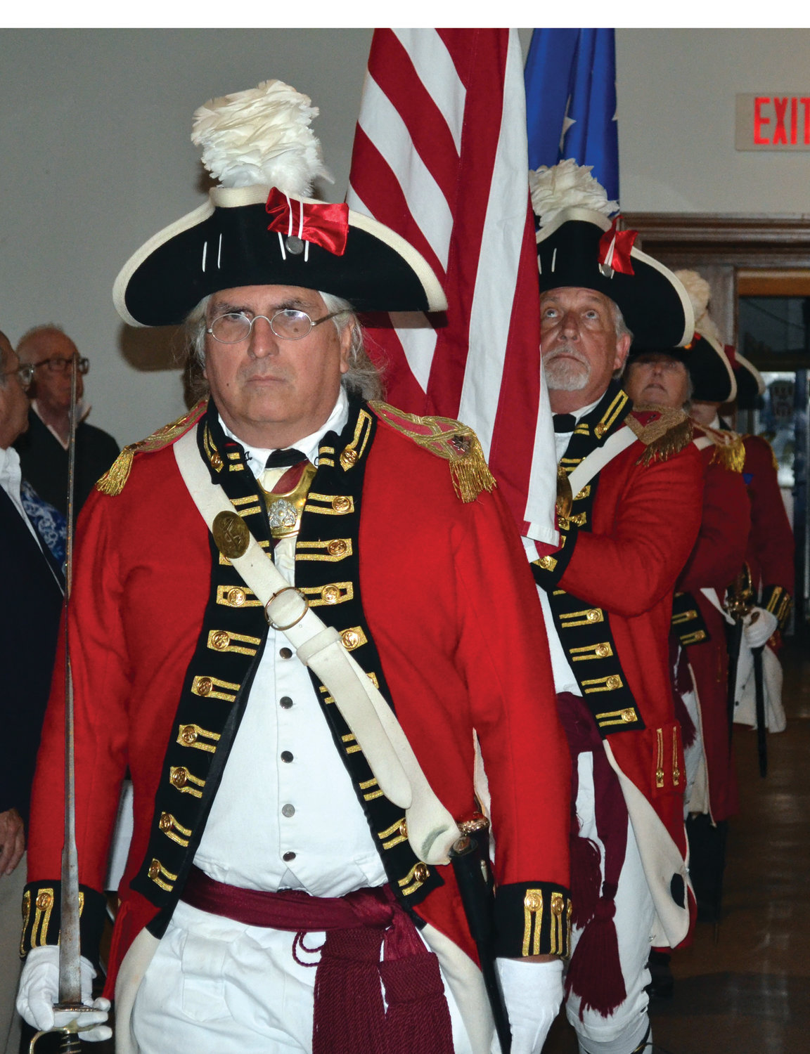 KICKING THINGS OFF: The Pawtuxet Rangers presented the colors at the start of the ceremony on Sept. 12.