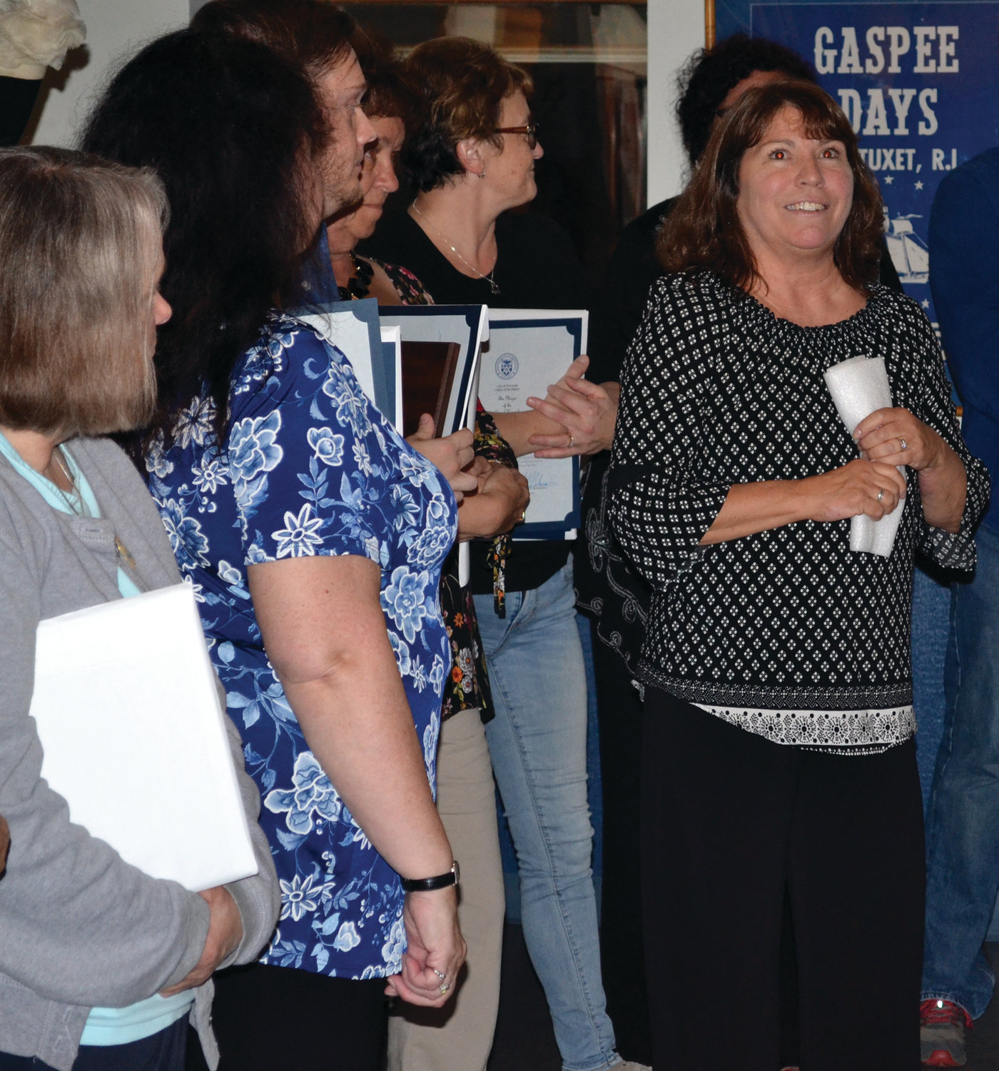 BRIGHT FUTURE: Gina Dooley gave her first remarks as the newest president of the Gaspee Days Committee, telling attendees about the first-ever Gaspee Days Fall-Out set for Oct. 12 in Pawtuxet Park.