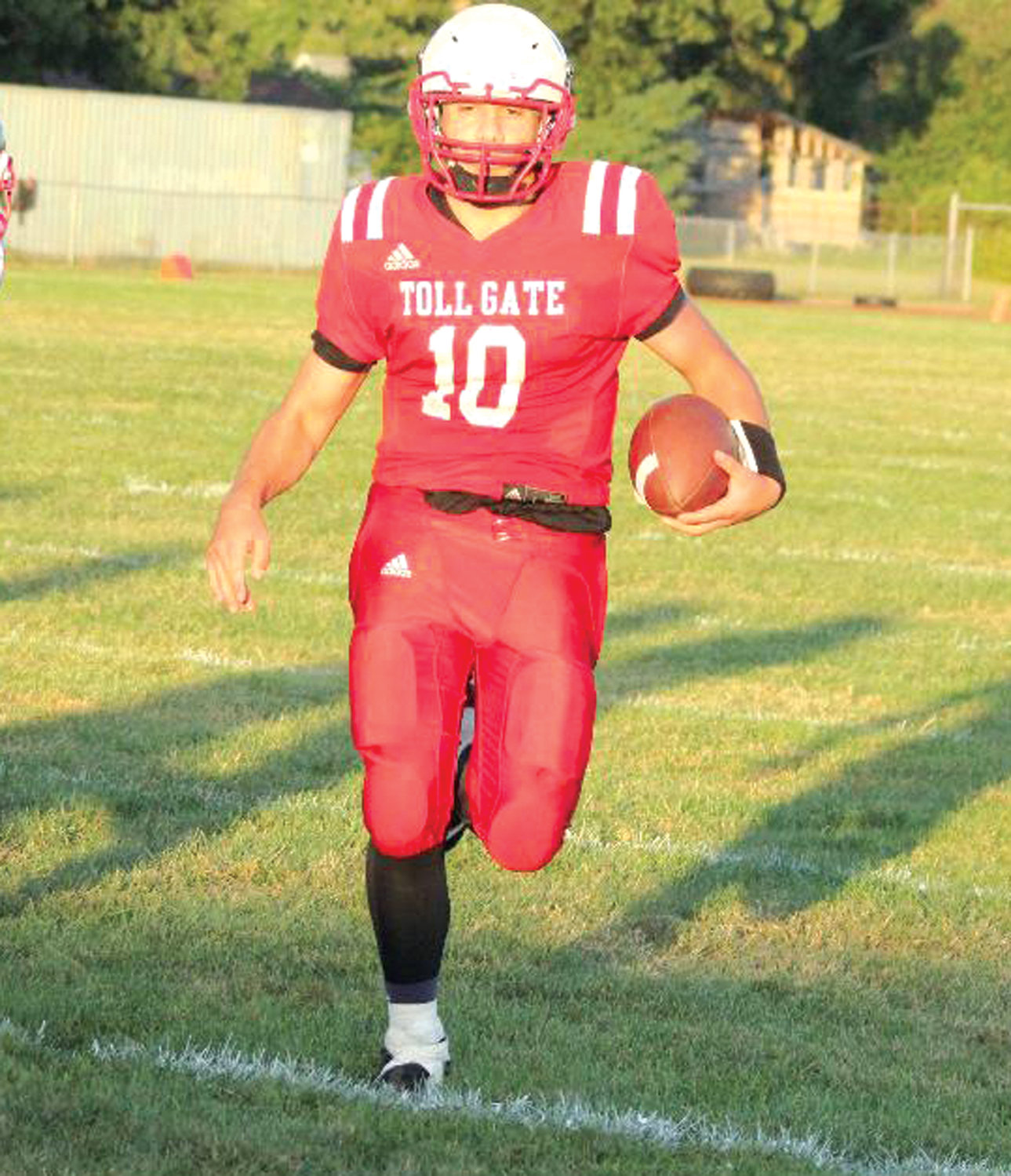 DOWN THE FIELD: Toll Gate's Christian Rapoza.