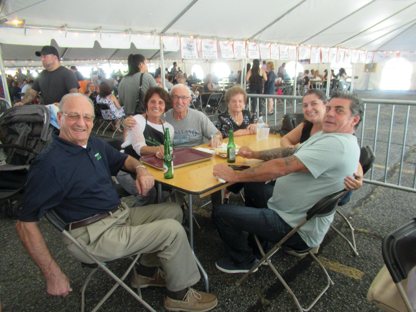 FESTIVAL FOLK: Marco and Rose D'Arezzo, Ed and Rosanne Cabral and Romeo and Janice Moretti were among the many people who took in last weekend's festivities.
