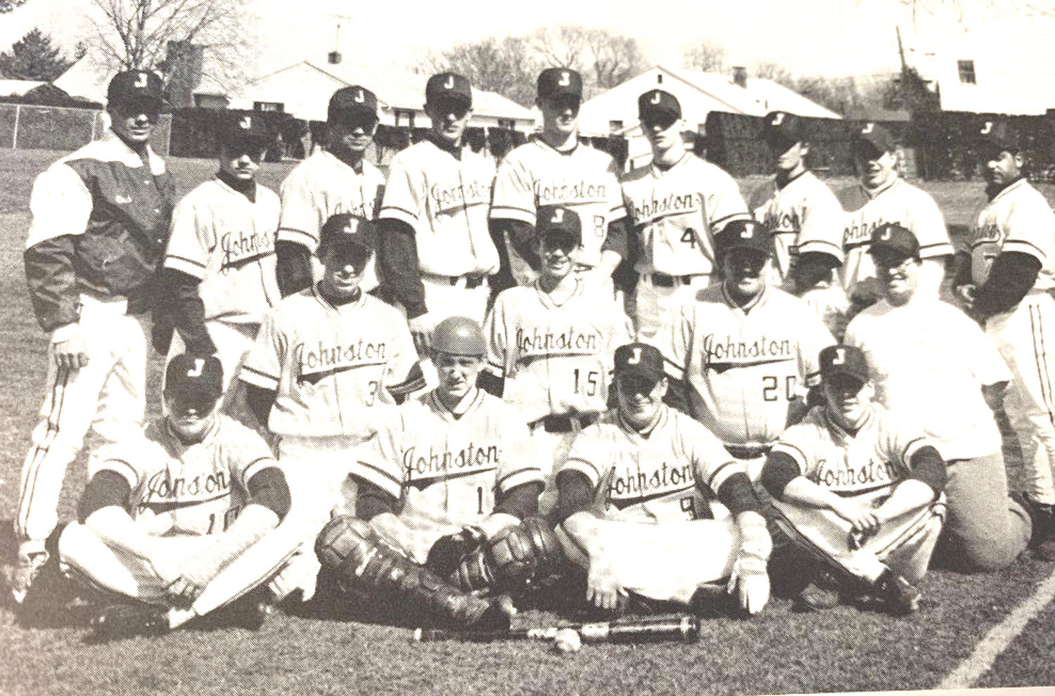 CHAMPIONSHIP CAST: This is the 1995 Johnston High School baseball team that captured the Rhode Island Interscholastic League Class B State Championship. All team members will be inducted into the Athletic Hall of Fame on Oct. 27.