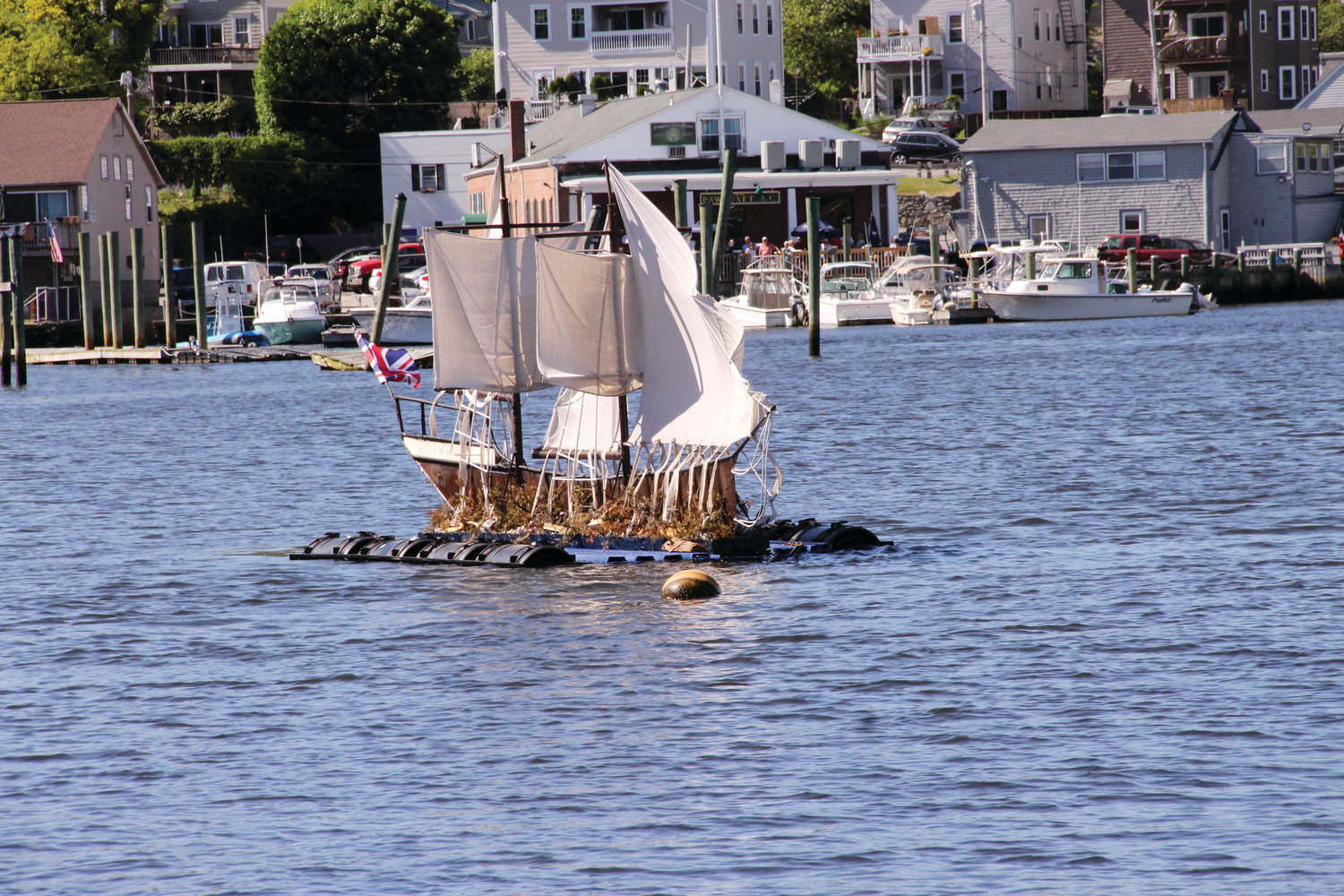 RISING FROM THE ASHES: The next phase of repairs to the Gaspee silhouette will be funded by the profits of the Fall-Out event.