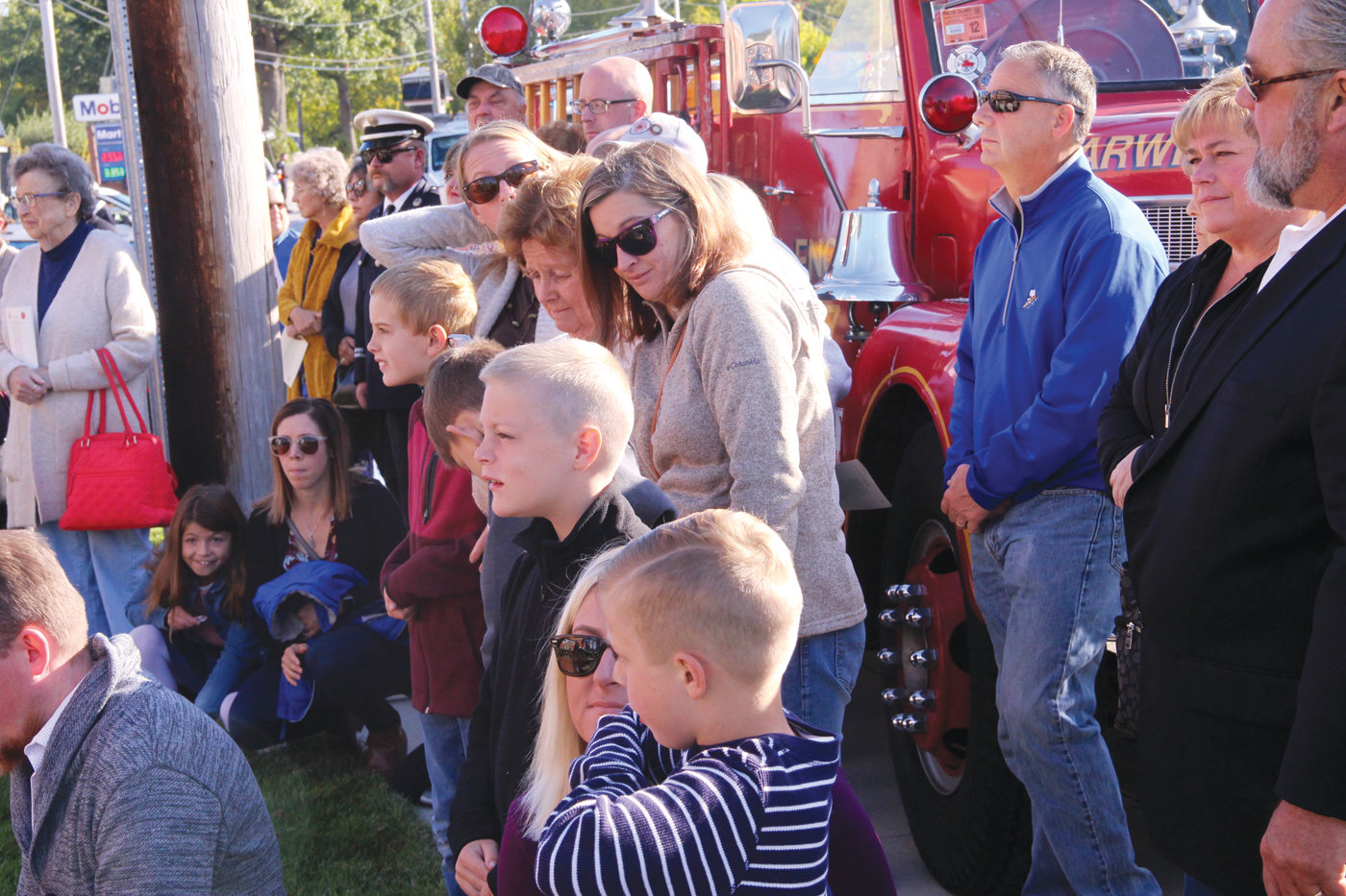 A FAMILY AFFAIR: Family members of current and deceased members of the Warwick Fire Department attended the ceremony.