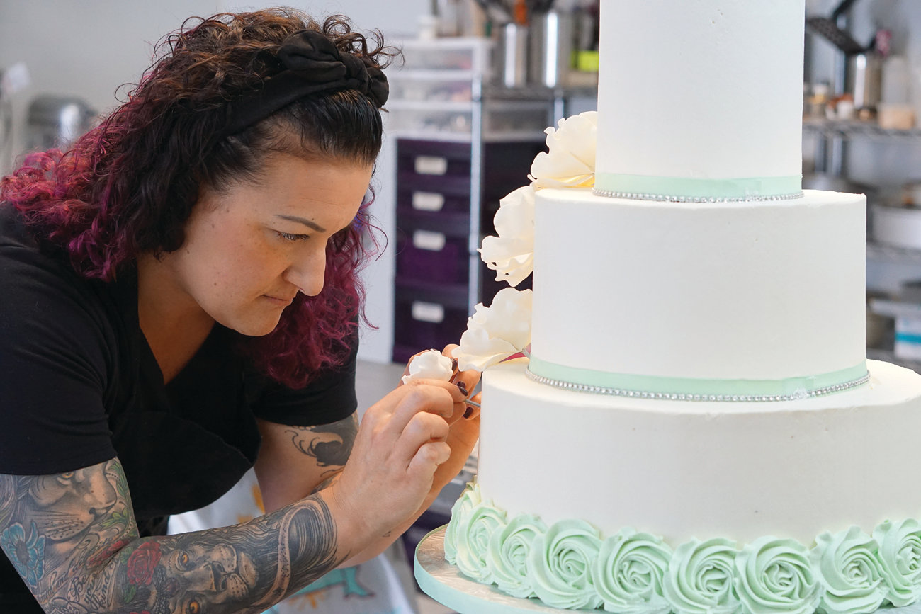 SELF-MADE: Lifelong Cranston resident Bianca Christofaro began her successful cake business from her apartment in 2010. She never dreamed she would someday be her own boss, doing what she truly loves.