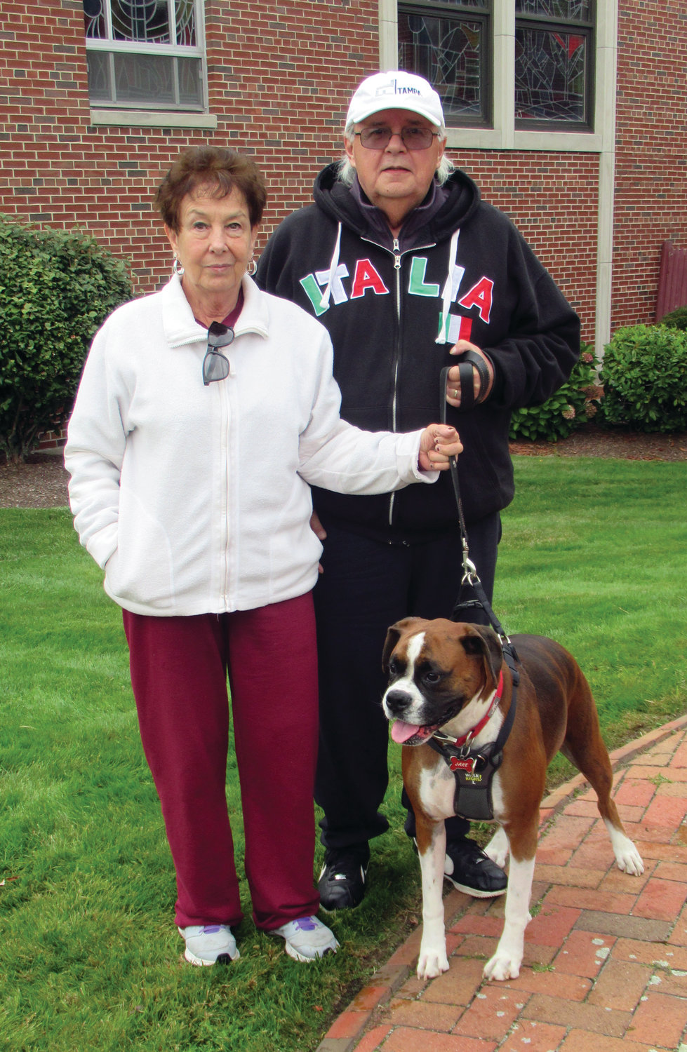 "BIG BOXER: Cathy and Phil Zito brought their Boxer ""Jake"" to Sunday's Blessing of the Animals at Our Lady of Grace Church."
