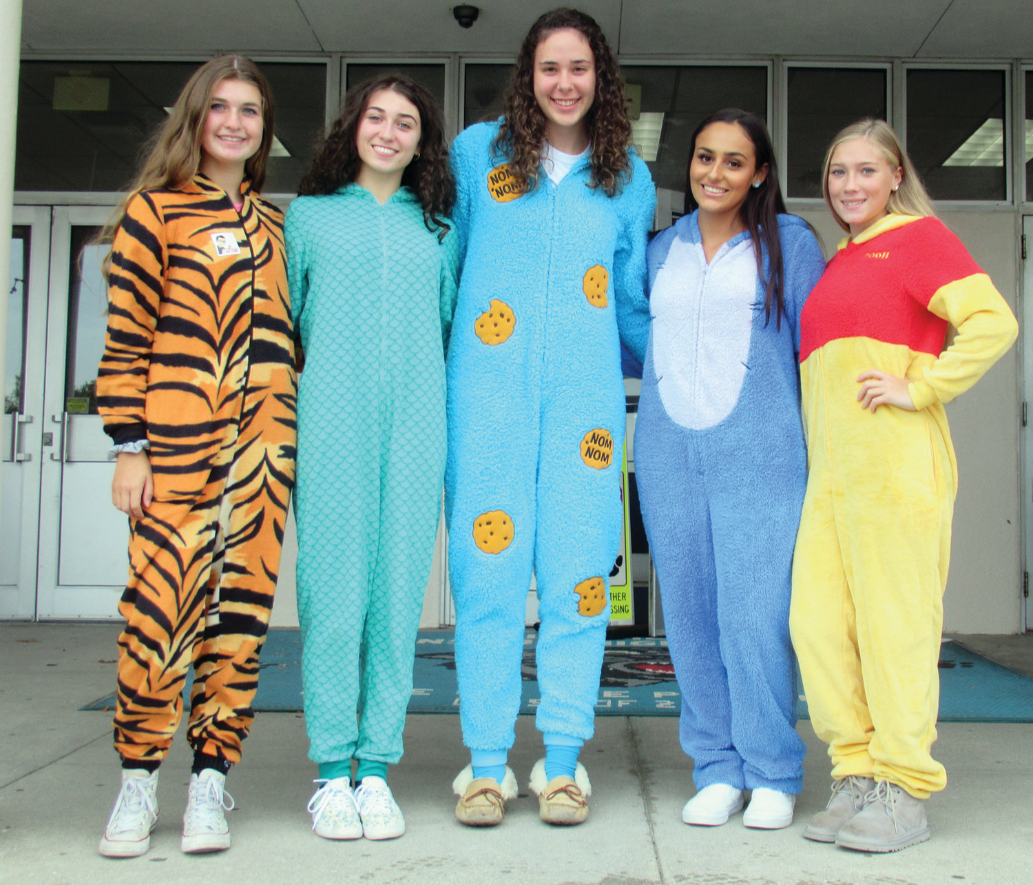 CLASSIC COURT: The 2019 Homecoming Queen candidates at Johnston High School are, from left, Delaney LaRose, Mia Ragosta, Meghan Philbrick, Natalia Soares and Lauren Campagnone.
