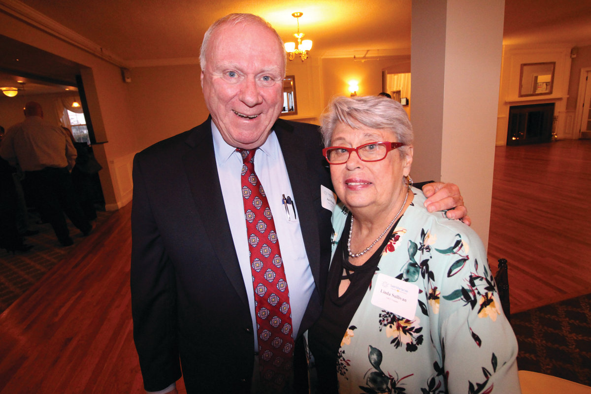FORMIDABLE TEAM: Former Mayor Joseph Walsh and Linda Sullivan worked together in the late 1970s to establish the Elizabeth Buffum Chace House, later to become the EBC Center. Sullivan is the founder of the agency that is celebrating its 40th anniversary.