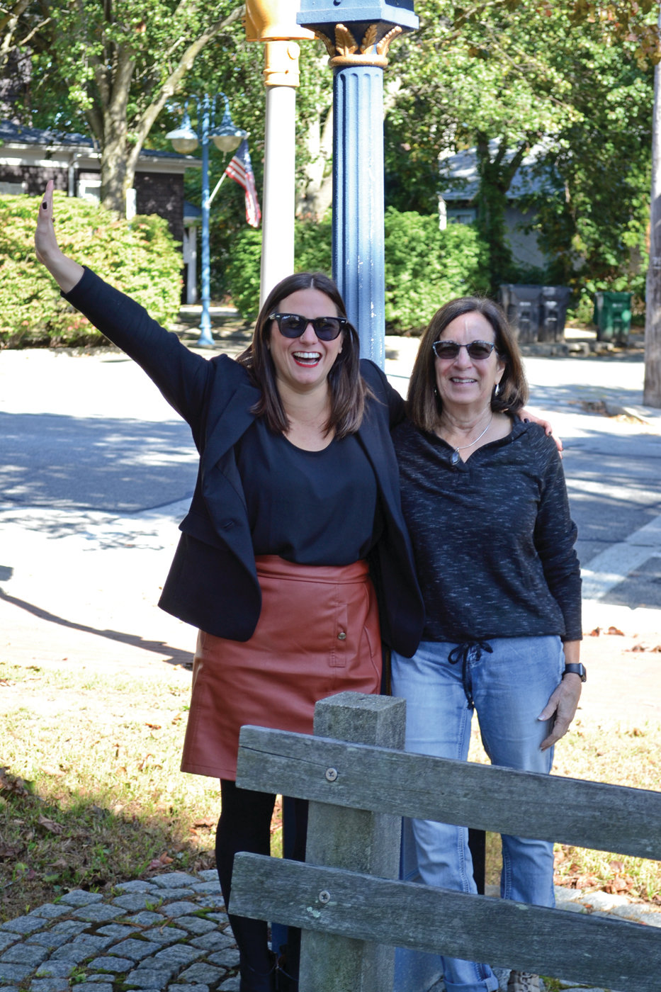 COME TO CONIMICUT: Meg Mut, a realtor with Century 21, and Virginia Barham, president of the Conimicut Village Association, are putting on a small business open house, with the hopes of bringing in new business owners to the historic Warwick village.